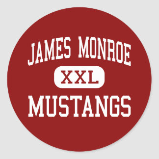 James Monroe - Mustangs - Middle - Eugene Oregon Classic Round Sticker