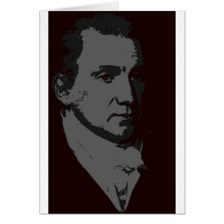 James Monroe silhouette Card