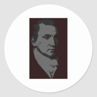 James Monroe silhouette Classic Round Sticker
