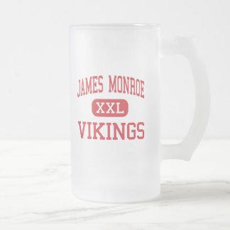 James Monroe - Vikings - High - North Hills Frosted Glass Beer Mug