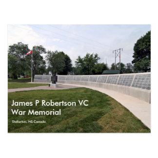 James P Robertson VC Tarjeta Postal