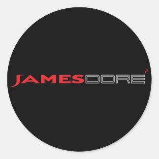 James pegatina negro y blanco de Dore de la letra