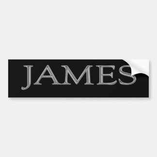 James Personalized Name Bumper Sticker