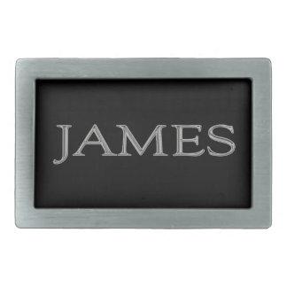 James personalizó la hebilla del cinturón conocida hebillas cinturon rectangulares
