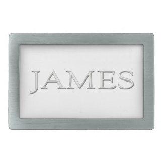 James personalizó la hebilla del cinturón conocida hebillas cinturón