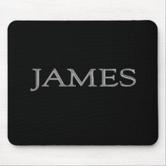 James personalizó nombre tapetes de ratones
