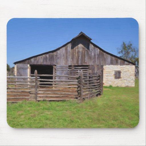 James Polk Johnson Barn Mouse Pad