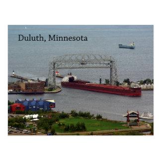 James R. Barker Entering Duluth post card