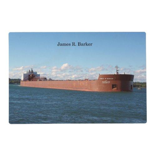 James R. Barker place mat