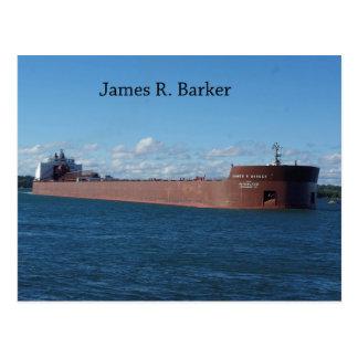 James R. Barker post card