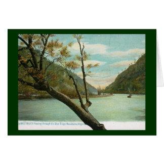 James River, Blue Ridge Mountains, VA Vintage Card