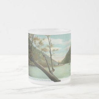 James River, Blue Ridge Mountains, VA Vintage Frosted Glass Coffee Mug