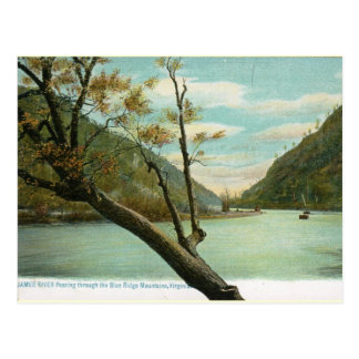 James River, Blue Ridge Mountains, VA Vintage Postcard