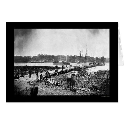 James River Bridge, VA 1864 Card