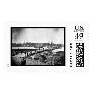 James River Bridge, VA 1864 Stamp