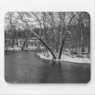 James River Cuts Back Grayscale Mouse Pad