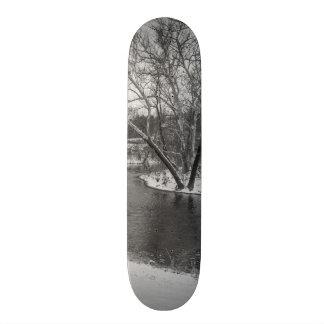 James River Cuts Back Grayscale Skateboard Deck