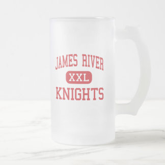 James River - Knights - High - Buchanan Virginia 16 Oz Frosted Glass Beer Mug