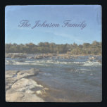 "James River personalized family Stone Coaster<br><div class=""desc"">You will be very happy with this James River family personalized marble coaster.  Featuring a lovely picture of the James River,  each coaster has it&#39;s very own textured style.  Purchase yours today!  