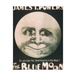 James T. Powers in The Blue Moon Theatre Canvas Print