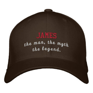 James the legend embroidered baseball cap