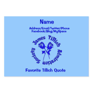 James Tillich Admiration Society Business Card Templates