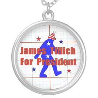 James Tillich For President Round Pendant Necklace