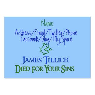 James Tillich murió por sus pecados Tarjetas De Negocios