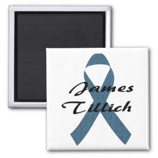 James Tillich Ribbon 2 Inch Square Magnet