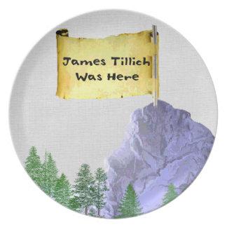 James Tillich Was Here Dinner Plate