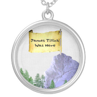 James Tillich Was Here Round Pendant Necklace
