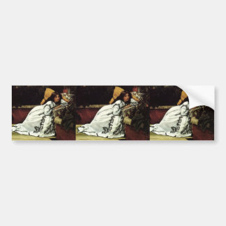 James Tissot- A Girl in an Armchair Car Bumper Sticker