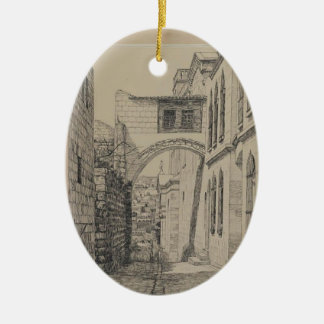 James Tissot- A Part of the Ancient Arch Christmas Tree Ornament