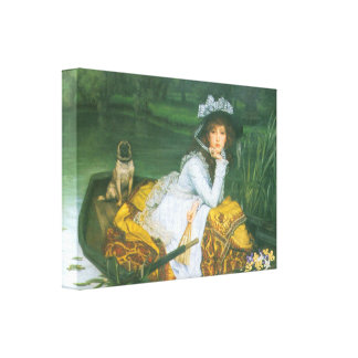 James Tissot - A young woman in a boat Canvas Print