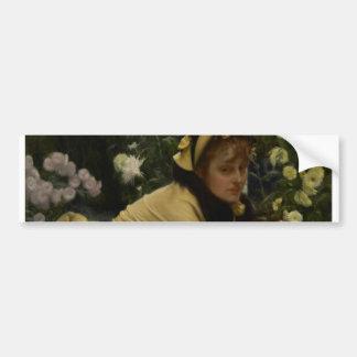 James Tissot Chrysanthemums Car Bumper Sticker