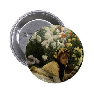 James Tissot Chrysanthemums Pin