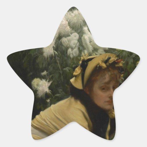 James Tissot Chrysanthemums Star Sticker