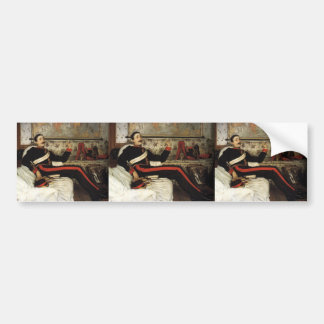 James Tissot- Colonel Frederick Gustavus Barnaby Car Bumper Sticker