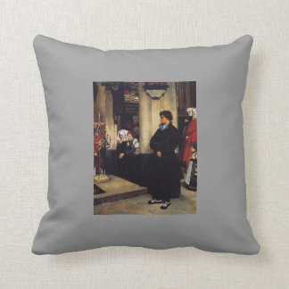 James Tissot- During the Service Throw Pillows