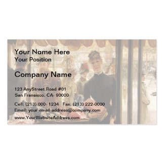James Tissot- el chica de tienda Tarjetas De Negocios