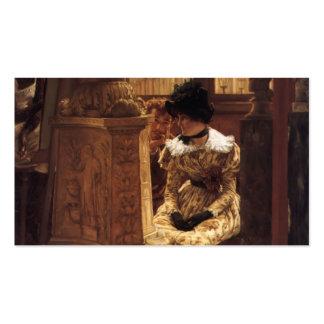 James Tissot- en el Louvre Tarjeta De Visita