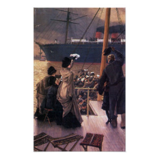 James Tissot - Farewell to the Mersey Poster