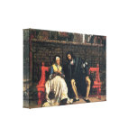 James Tissot - Faust and Marguerite in the garden Stretched Canvas Print