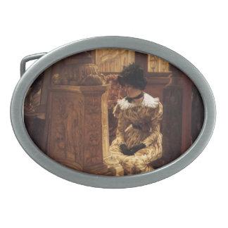 James Tissot- In The Louvre Belt Buckle