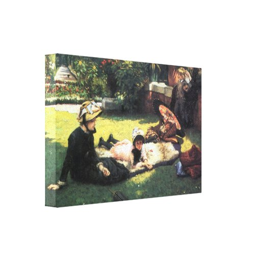James Tissot - In the sun Stretched Canvas Print
