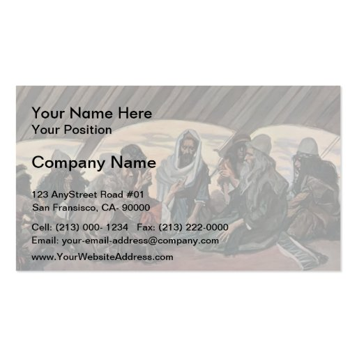 James Tissot: Jethro and Moses, as in Exodus 18 Double-Sided Standard Business Cards (Pack Of 100)