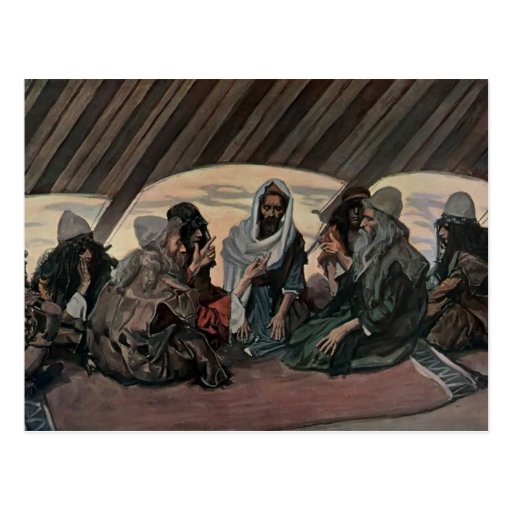 James Tissot: Jethro y Moses, como en el éxodo 18 Tarjeta Postal