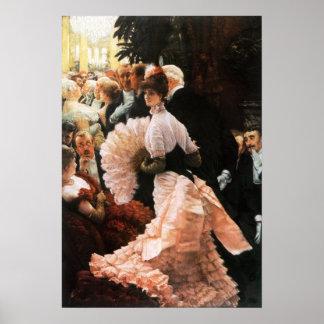 James Tissot la señora política Poster