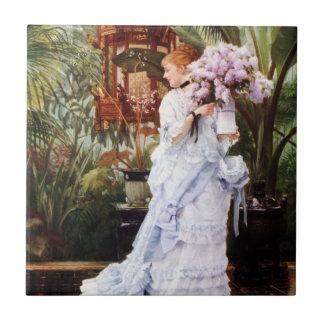 James Tissot Lilacs Tile