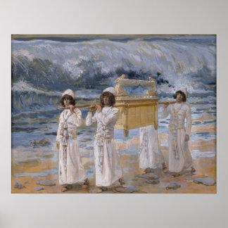 James Tissot - los pasos de la arca sobre la Jorda Póster